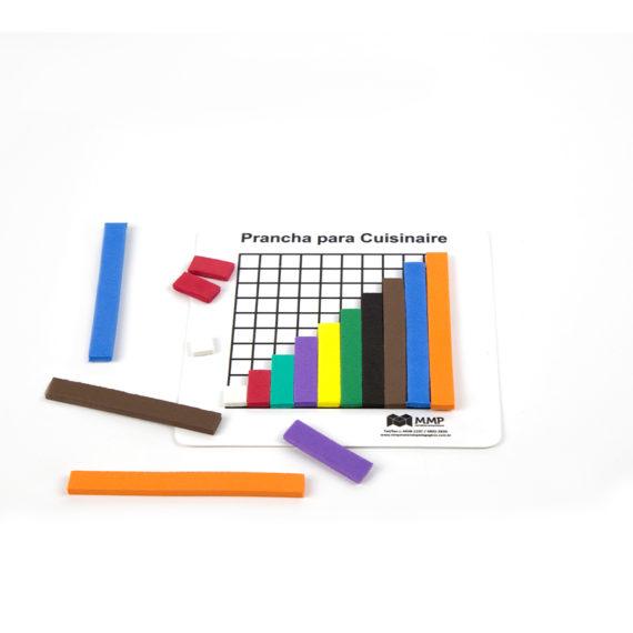 Barrinhas Coloridas (Cuisenaire) - EVA com Prancha Plástica