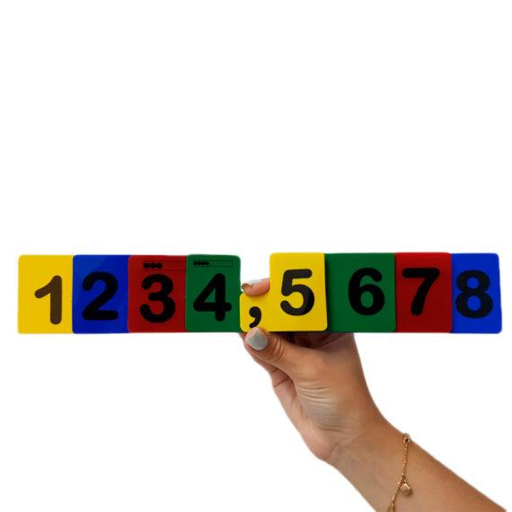 Fichas Sobrepostas para Numeração - Aluno