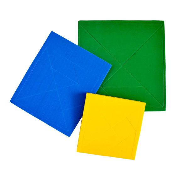 Tangram Quadrado - 10cm x 10cm Pacote com 10