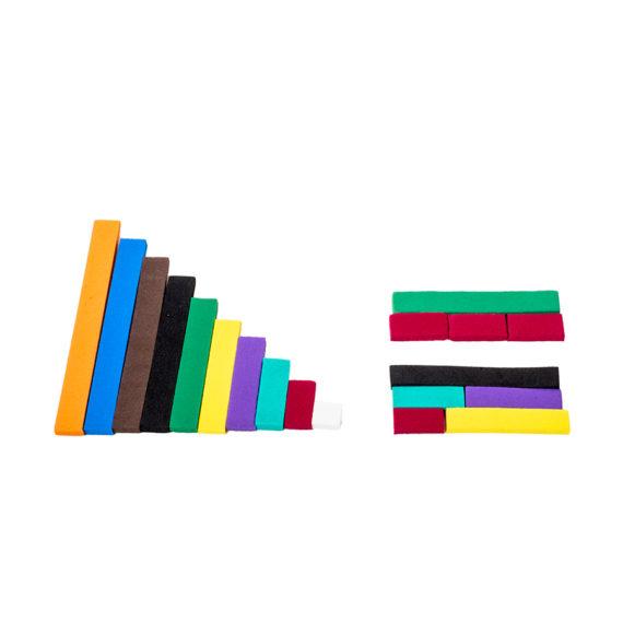 A005 - Barrinhas Coloridas (Cuisenaire) - EVA 1