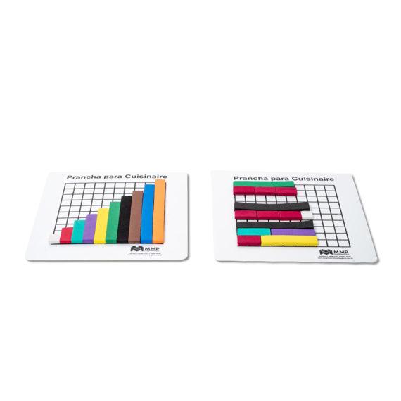 A006 - Barrinhas Coloridas (Cuisenaire) - EVA com Prancha Plástica 1