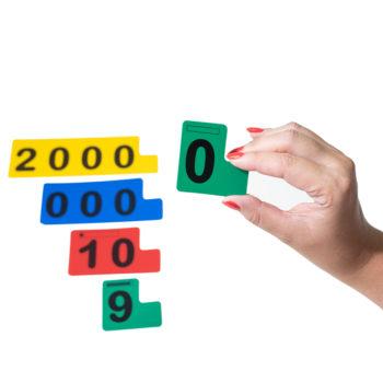 A021 - Fichas Sobrepostas para Numeração - Aluno 1