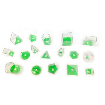 A098-A - Mini-Sólidos Geométricos em Acrílico 17 peças - Aluno 1