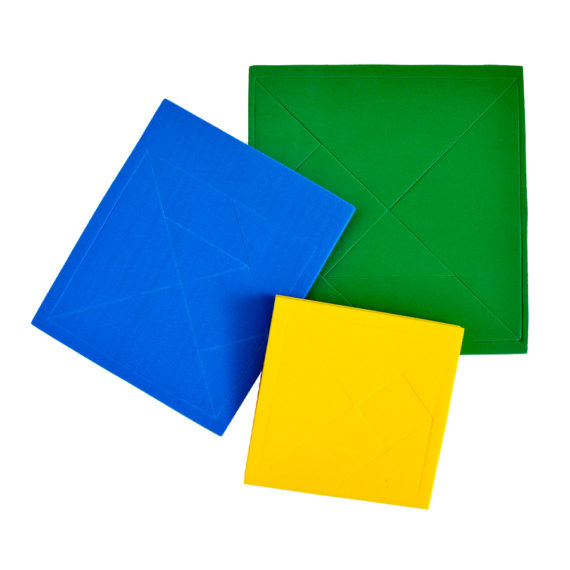 A111 - Tangram Quadrado - 10cm x 10cm Pacote com 10 1