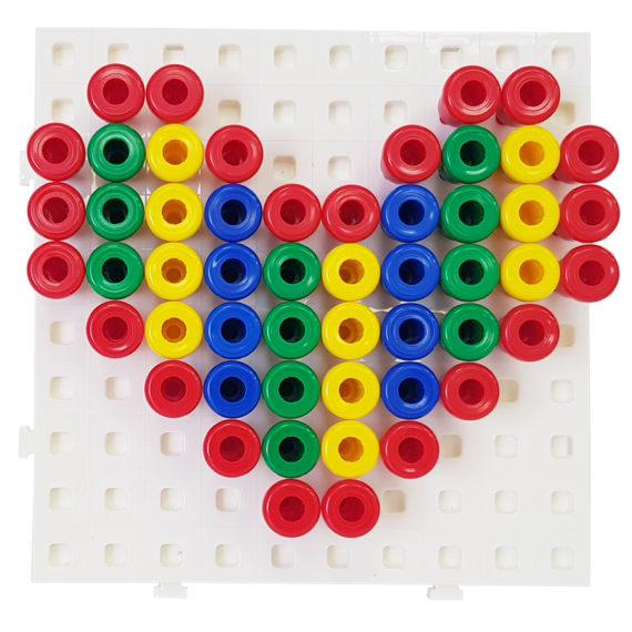 A127 - Painel Coordenação Motora Matemática com Pinos 2