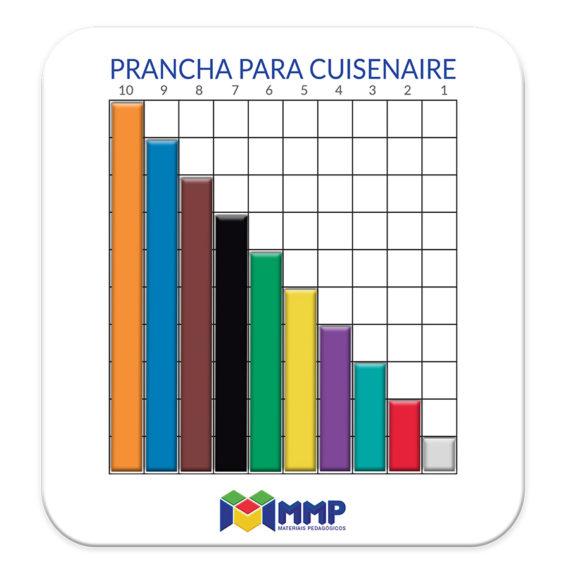 P005 - Barrinhas Coloridas (Cuisenaire) - Prancha Imantada 1