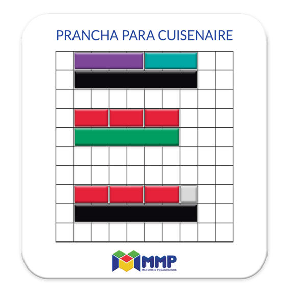 P005 - Barrinhas Coloridas (Cuisenaire) - Prancha Imantada 2