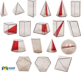 Sólidos geométricos em acrílico (EFI,EFII,EM)