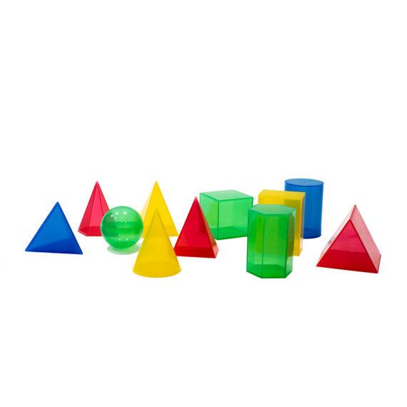 Sólidos Geométricos em Plástico