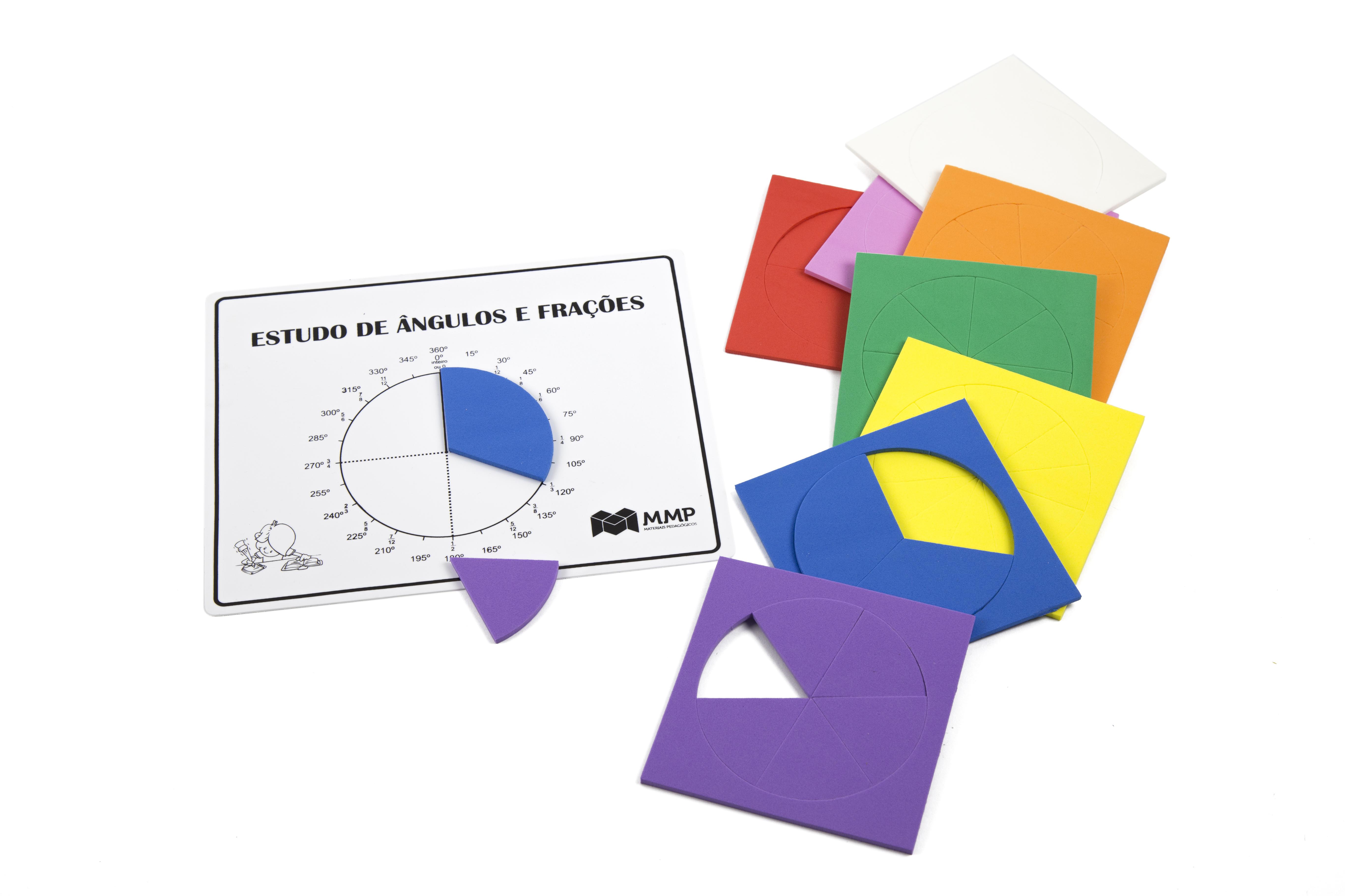 Frações Circulares com prancha para estudo de ângulos